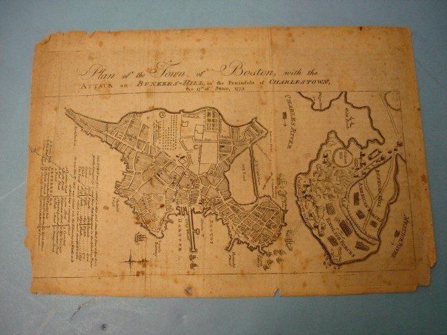 186: Map Engraving - Plan of the Town of Boston, 1775