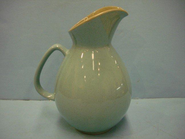 13: Turquoise Glazed Pottery Pitcher