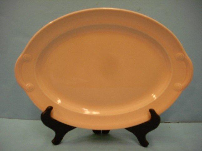 15: Small Lu Ray Pink Pottery Platter