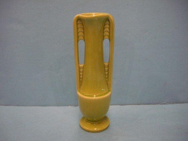 17: Shawnee Charteuse Glazed Pottery Urn