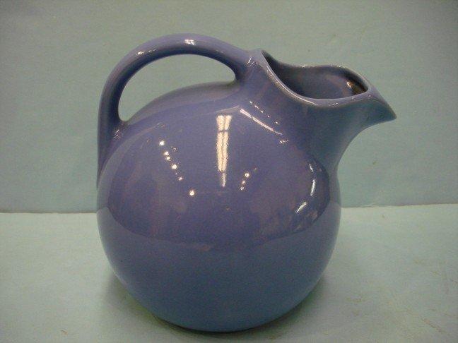 22: Blue Glazed Rumrill Pottery Pitcher