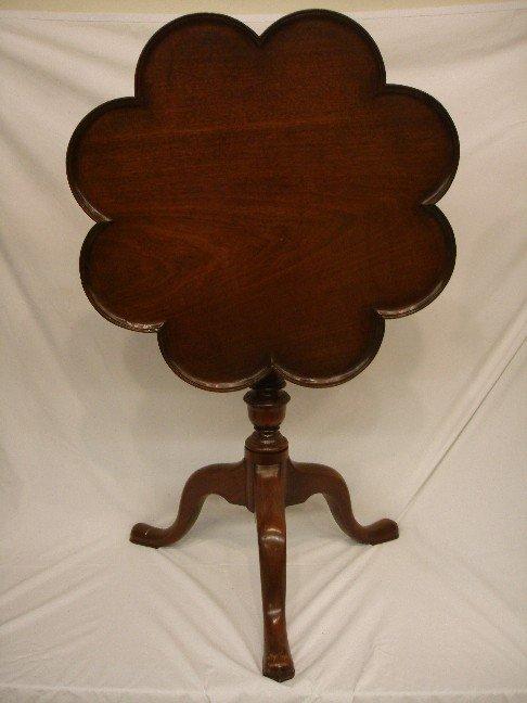 154: Antique English  QA Style Tilt Top Tea Table