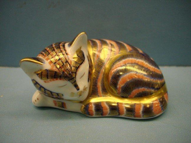 3: Royal Crown Derby Porcelain Figure of Kitten