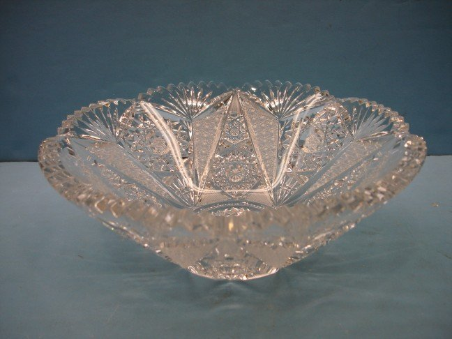 6: American Brilliant Period Cut Glass Fruit Bowl