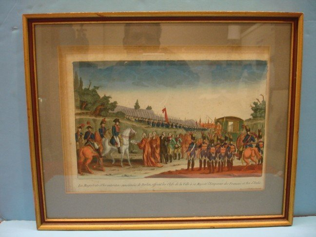 9: 18th Century French Hand Colored Engraving