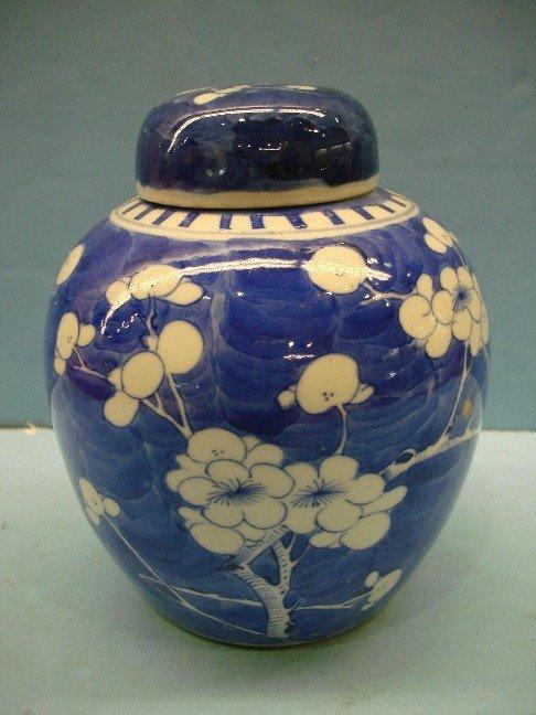 11: Blue & White Canton Ginger Jar