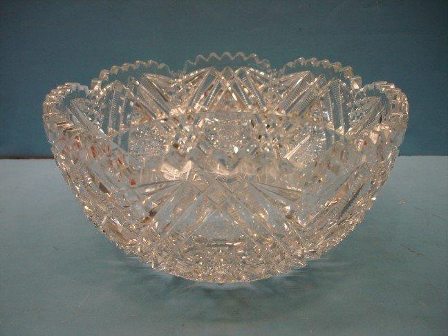 12: Libbey Brilliant Period Cut Glass Bowl
