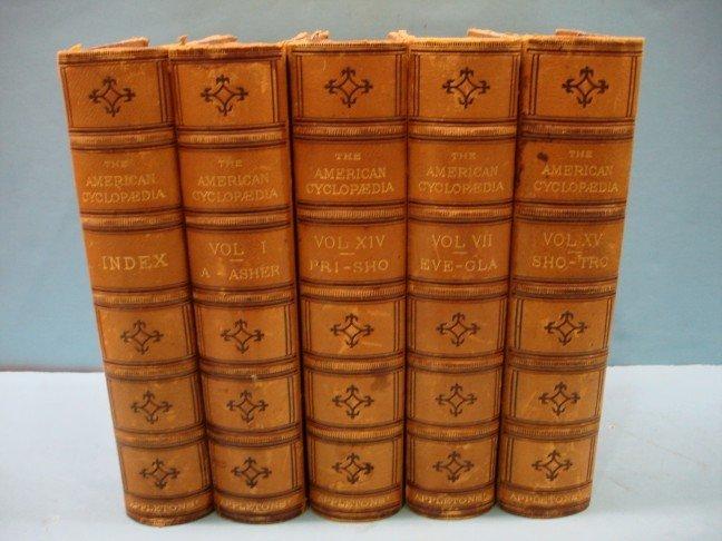 16: Five Half Leather Bound Volumes - 1881