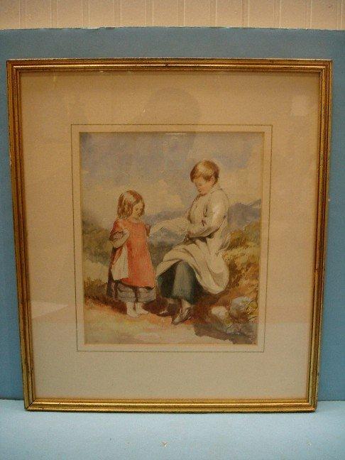 24: English Watercolor by James Jackson Curnock