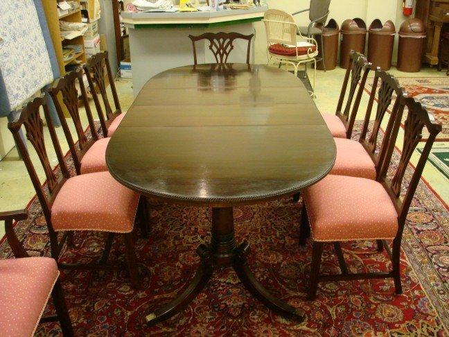20: Mahogany Double Pedestal Banquet Table