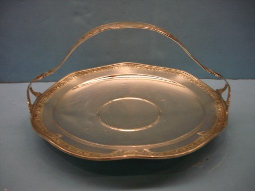 3: Whiting Sterling Tray with Basket Handle