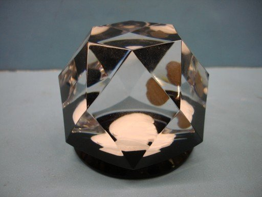 11: Baccarat Faceted Crystal Sulfide Paperweight