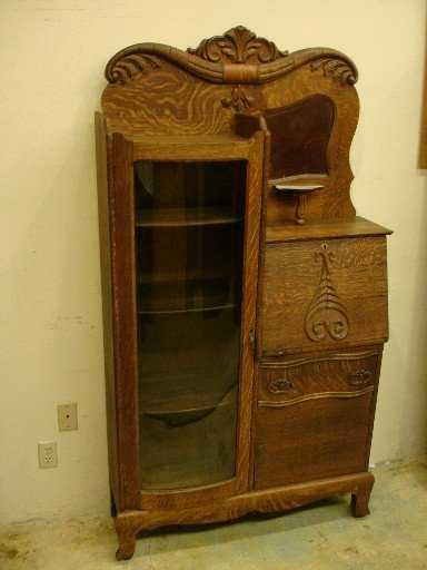 - 40: Victorian Oak Side By Side Secretary Bookcase