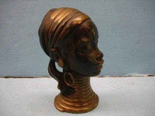 Rena Rosenthal Art Deco Bronze Bust of African Woman