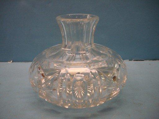 Miniature Brilliant Period Cut Glass Rose Bowl
