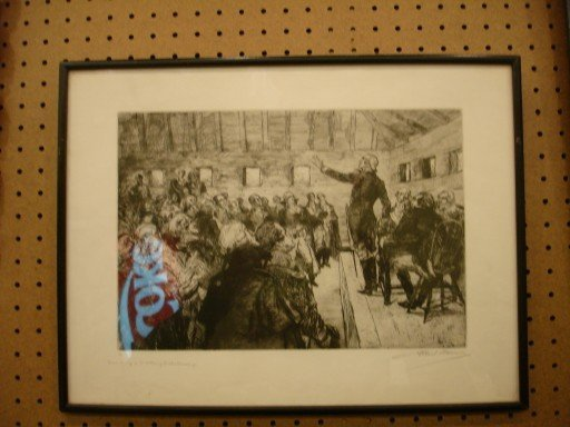 Two BiCententennial Etchings by A. Sterner & S. Wright