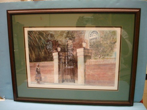 Bruce Chandler Framed & Matted Watercolor - Black Woman