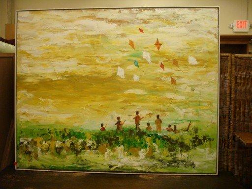 """Lee Reynolds Oil on Canvas - """" Kites """""""