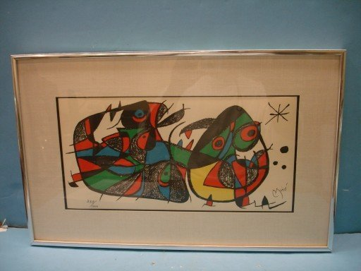 Joan Miro Lithograph - pencil signed & numbered
