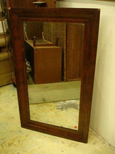 19th Century American Mahogany Ogee Framed Mirror