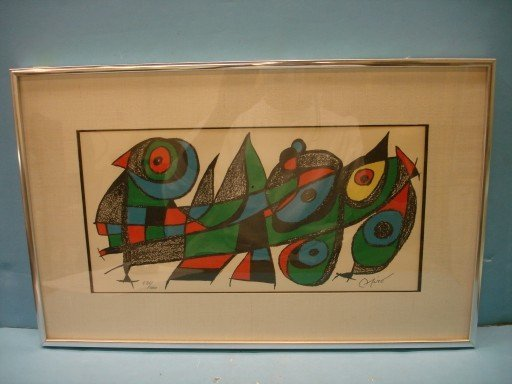 Joan Miro Limited Edition Lithograph - signed