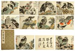 PAGES TWENTY OF CHINESE HANDWRITTEN FLOWER AND BIRD