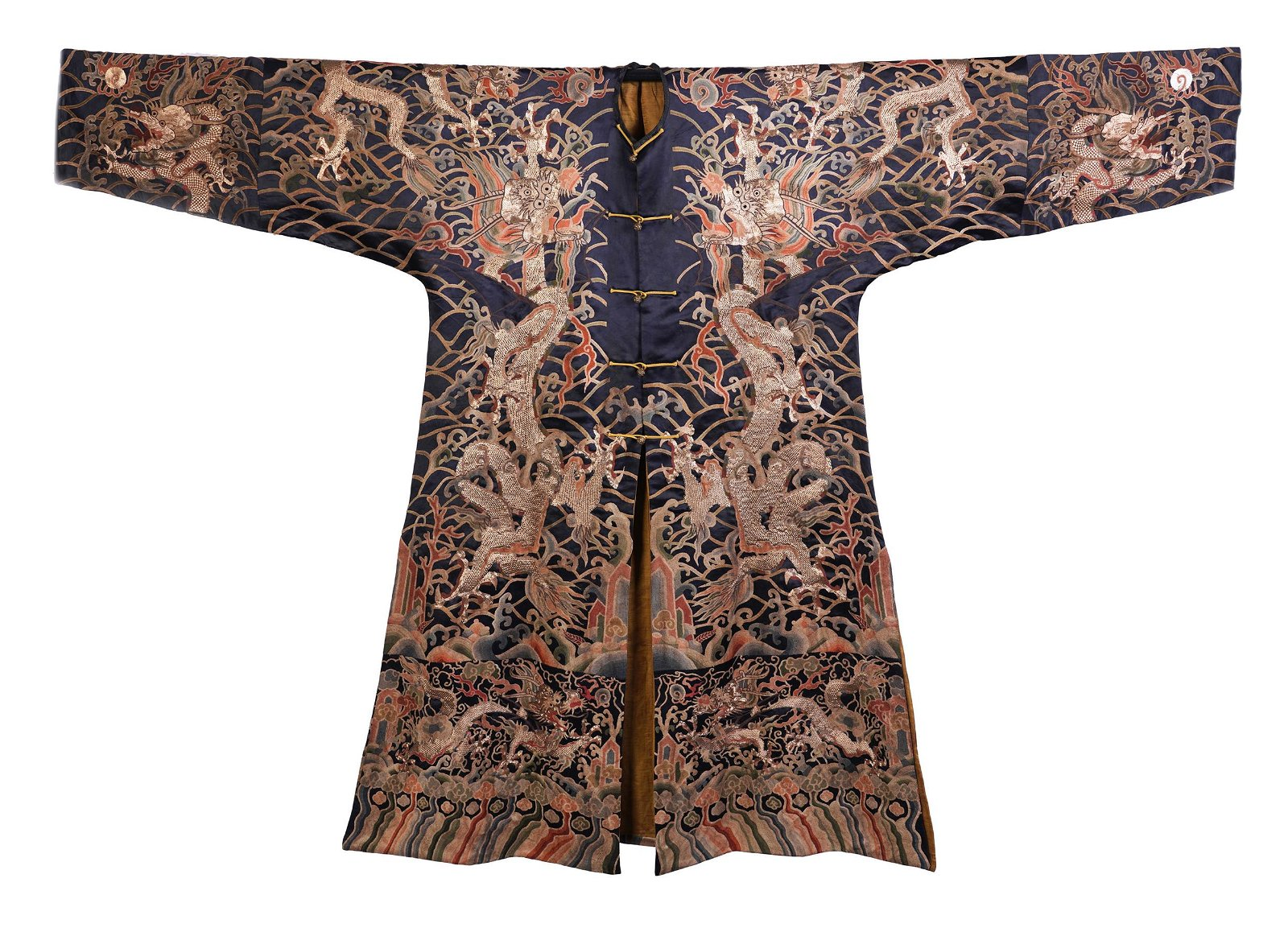 CHINESE GOLD FILIGREE EMBROIDERY DRAGON TMPERIAL ROBE