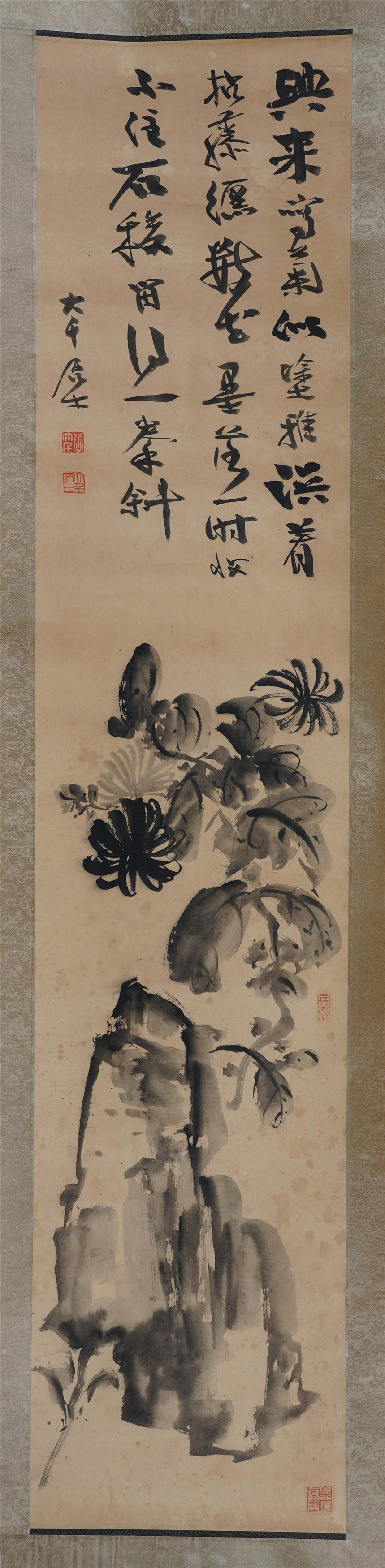 CHINESE HANGING SCROLL INK PAINTING OF ZHANG DAQIAN