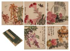 CHINESE PAINTING ALBUM OF FLOWERS AND BIRDS