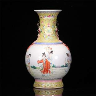 A CHINESE FAMILLE ROSE PORCELAIN FIGURE STORY VIEWS