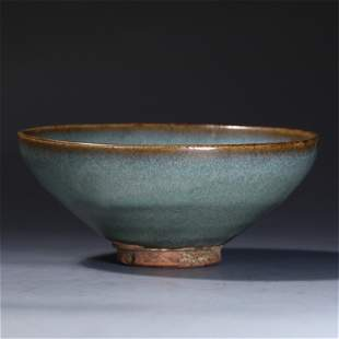 A CHINESE JUN-TYPE GLAZED PORCELAIN BOWL
