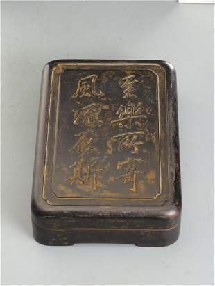 A CHINESE INSCRIBED INK-STONE