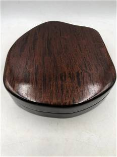A FREE-FORM SHAPE HARDWOOD BOX AND COVER