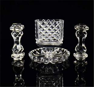 A Set of Chinese Carved Rock Crystal Crafts