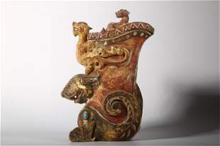 A Chinese Gilt Bronze Cup