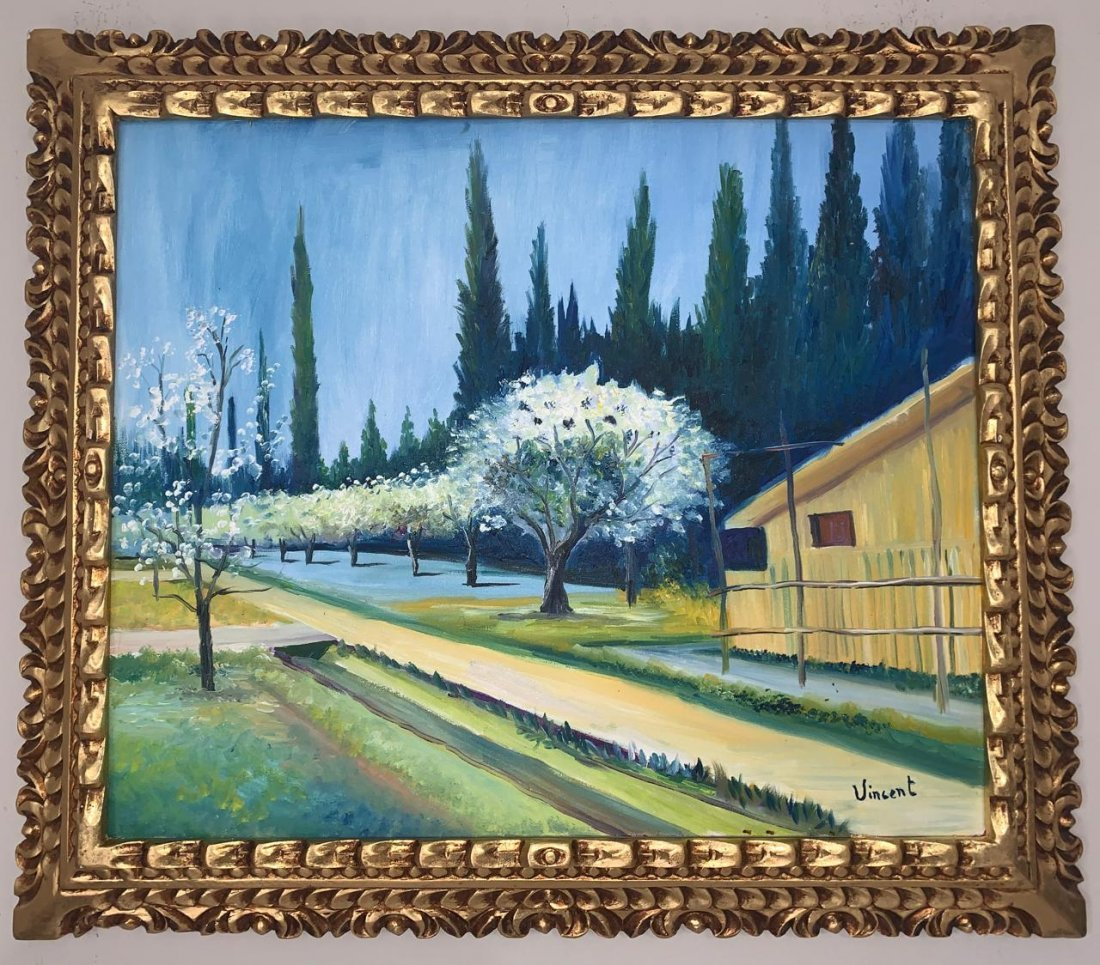 Vincent Van Gogh Oil on Canvas, Signed and Stamped