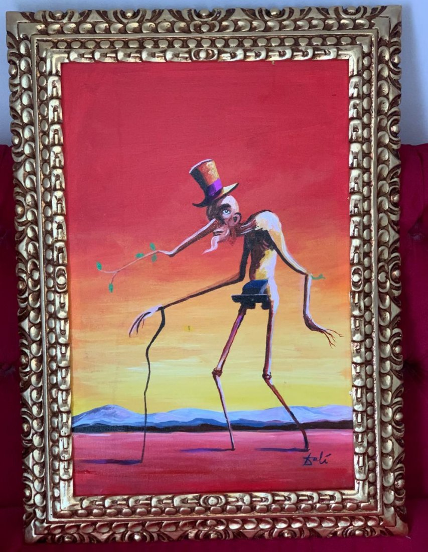 Salvador Dalí Painting Oil On Canvas Signed and Stamped
