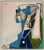 Pablo Picasso Oil on Canvas, Signed and Stamped