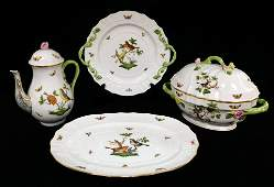"Herend ""Rothschild Bird"" pattern porcelain dinner and"