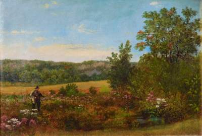 Nelson Augustus Moore (Connecticut, 1824-1902), oil on
