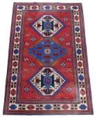 """RUG: Semi-antique Caucasian Kazak, 5'1"""" x 7'10"""","""