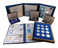 SILVER: Four albums and three cased sets of sterling