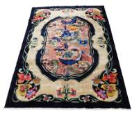 RUG: Art Deco Chinese, 9' x 12', wool on cotton, last