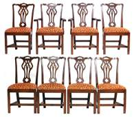 Centennial set of eight Chippendale style mahogany