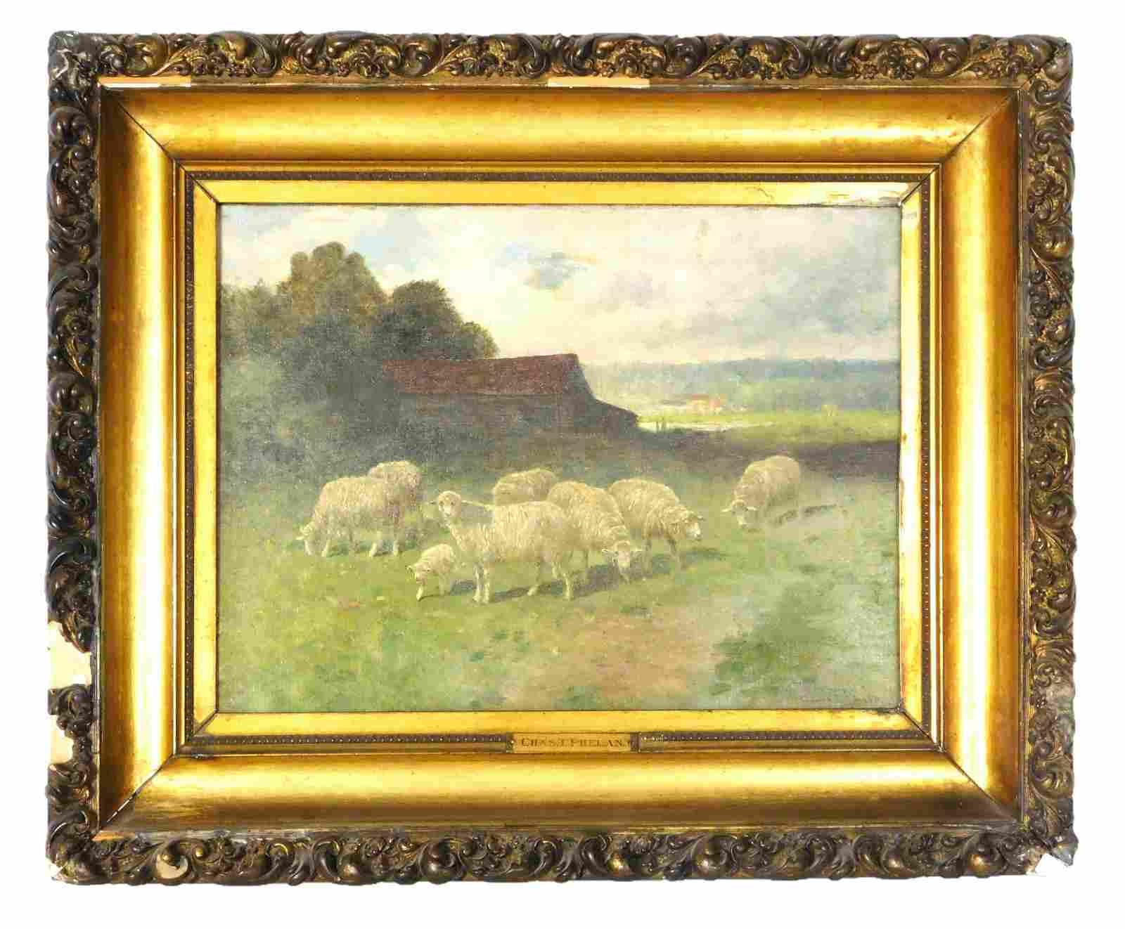 Charles T. Phelan (b. 1840, New York), oil on canvas,