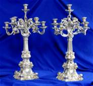 SILVER: Heinrich Friedeberg, pair of Baroque German