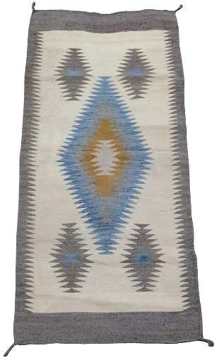 "RUG: Native American Navajo rug, 5' 4"" x 2' 6"", wool on"