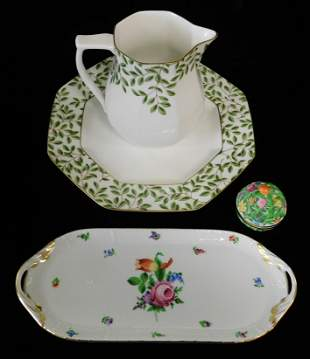 Herend, Tiffany & Co. porcelain, four pieces,