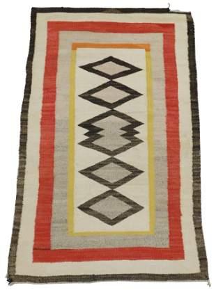 "RUG: Native American Navajo rug, 5' 4"" x 3' 3"", wool on"