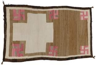 "RUG: Native American Navajo rug, 4' 5"" x 2' 6"", wool on"